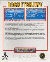 Box back cover for Basketbrawl on the Atari Lynx.