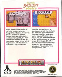 Box back cover for Bill & Ted's Excellent Adventure on the Atari Lynx.