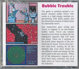 Box back cover for Bubble Trouble on the Atari Lynx.
