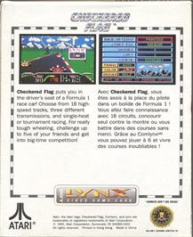 Box back cover for Checkered Flag on the Atari Lynx.