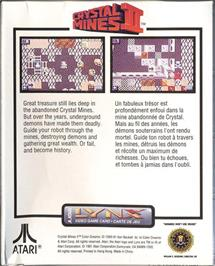 Box back cover for Crystal Mines II: Buried Treasure on the Atari Lynx.