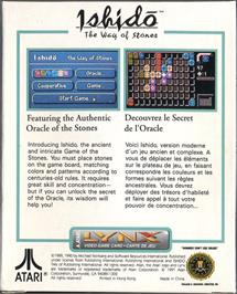 Box back cover for Ishido: The Way of Stones on the Atari Lynx.