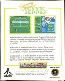 Box back cover for Jimmy Connors Pro Tennis Tour on the Atari Lynx.