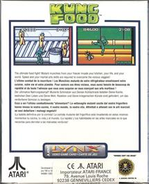 Box back cover for Kung Food on the Atari Lynx.