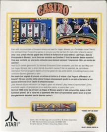Box back cover for Lynx Casino on the Atari Lynx.