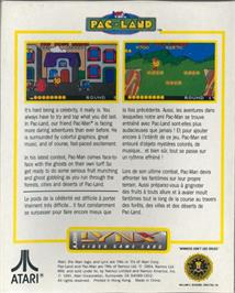 Box back cover for Pac-Land on the Atari Lynx.