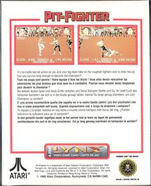 Box back cover for Pit-Fighter on the Atari Lynx.