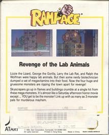 Box back cover for Rampage on the Atari Lynx.