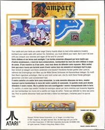 Box back cover for Rampart on the Atari Lynx.