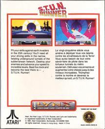 Box back cover for S.T.U.N. Runner on the Atari Lynx.