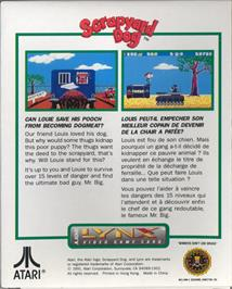 Box back cover for Scrapyard Dog on the Atari Lynx.