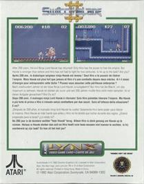 Box back cover for Switchblade II on the Atari Lynx.