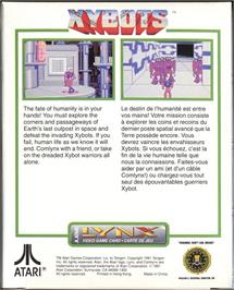 Box back cover for Xybots on the Atari Lynx.