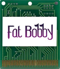 Cartridge artwork for Fat Bobby on the Atari Lynx.
