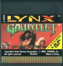 Cartridge artwork for Gauntlet: The Third Encounter on the Atari Lynx.