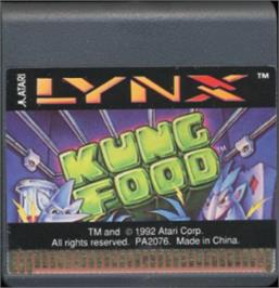 Cartridge artwork for Kung Food on the Atari Lynx.