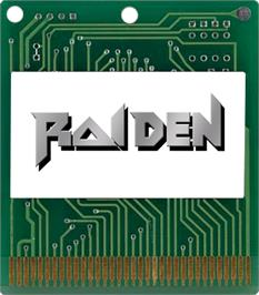 Cartridge artwork for Raiden on the Atari Lynx.