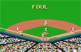 In game image of Baseball Heroes on the Atari Lynx.