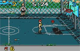 In game image of Basketbrawl on the Atari Lynx.