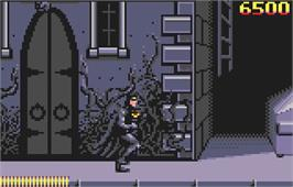 In game image of Batman Returns on the Atari Lynx.