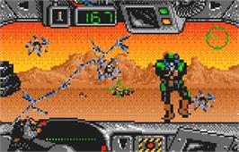 In game image of BattleWheels on the Atari Lynx.