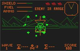 In game image of Battlezone 2000 on the Atari Lynx.