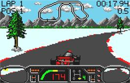 In game image of Checkered Flag on the Atari Lynx.