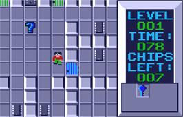 In game image of Chip's Challenge on the Atari Lynx.