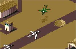 In game image of Desert Strike: Return to the Gulf on the Atari Lynx.