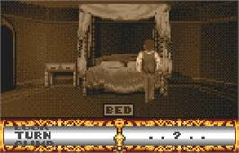 In game image of Dracula the Undead on the Atari Lynx.
