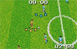 In game image of European Soccer Challenge on the Atari Lynx.