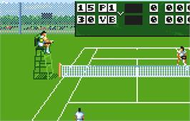 In game image of Jimmy Connors Pro Tennis Tour on the Atari Lynx.