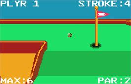 In game image of Krazy Ace Miniature Golf on the Atari Lynx.