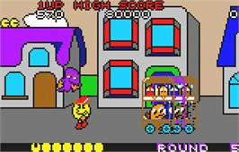 In game image of Pac-Land on the Atari Lynx.