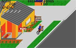 In game image of Paperboy on the Atari Lynx.