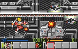 In game image of Power Factor on the Atari Lynx.