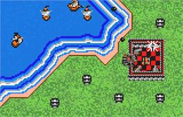In game image of Rampart on the Atari Lynx.