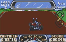 In game image of Road Riot 4WD on the Atari Lynx.