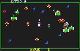 In game image of Robotron: 2084 on the Atari Lynx.