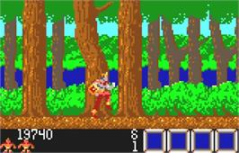 In game image of Rygar on the Atari Lynx.