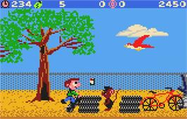 In game image of Scrapyard Dog on the Atari Lynx.