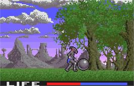 In game image of Shadow of the Beast on the Atari Lynx.