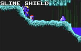 In game image of Todd's Adventures in Slime World on the Atari Lynx.