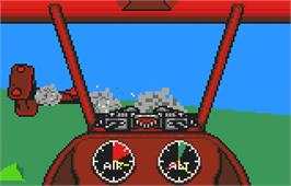 In game image of Warbirds on the Atari Lynx.