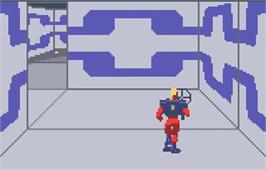 In game image of Xybots on the Atari Lynx.