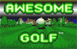 Title screen of Awesome Golf on the Atari Lynx.