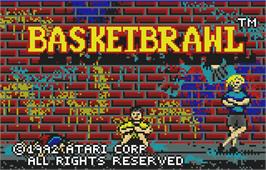 Title screen of Basketbrawl on the Atari Lynx.