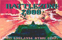 Title screen of Battlezone 2000 on the Atari Lynx.