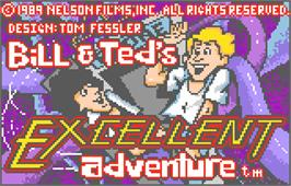 Title screen of Bill & Ted's Excellent Adventure on the Atari Lynx.