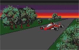 Title screen of Checkered Flag on the Atari Lynx.